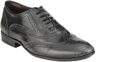Delize 7605-Black+Silver Lace Up Shoes