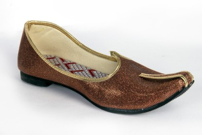 Panahi Brown Colour Synthetic Leather Men Ethnic Wear Slip On Jutis Party Wear