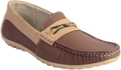 SKYLARK Brown Leather Loafers