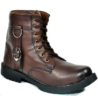 Kohinoor Harley Brown High Ankle Length Boots