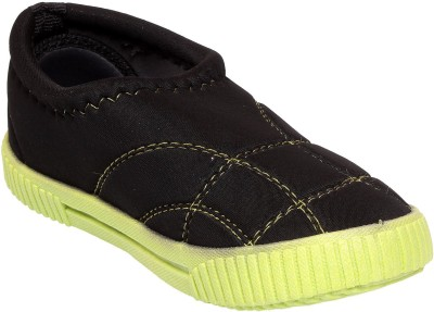 Pu-Right Lotto-Bk-Green-Kids-Canvas Casual Shoes