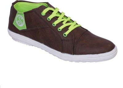 Smoky Brown Canvas Casual Shoes