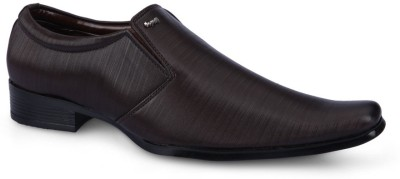 F9 1011 Brown Slip On Shoes