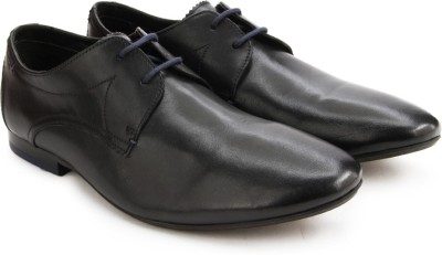 Clarks Whelan Walk Black Leather lace up