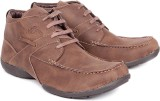 Red Marine Brown Lace Up Footwear Casual...