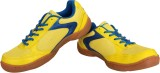 Nivia Flash Badminton Shoes (Yellow, Blu...