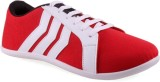 Shoe Striker Stripes Red Canvas Shoes (R...
