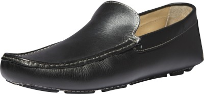 Zovi Black Stan Driver Grain Finished Premium Leather Shoes Loafers