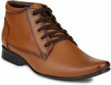Mactree Cuban Lace Up Shoes (Tan)