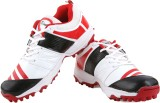 Proase Stud Cricket Shoes (White, Red)