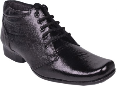 Leather Wood Lace Up Shoes