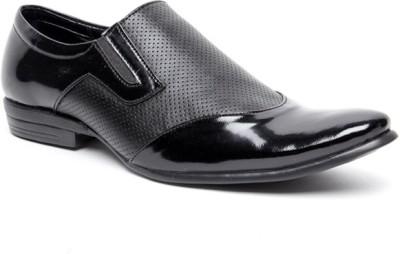 Zapatoz Black Perforated Slip On