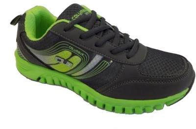 Columbus Fiona Gry Lime-Grn Walking Shoes