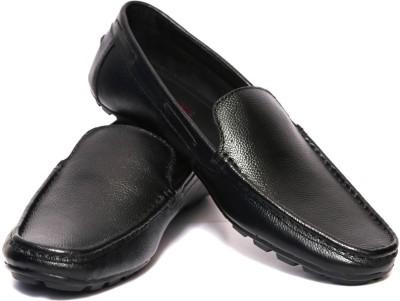Adler Black Genuine Leather Classy Loafers