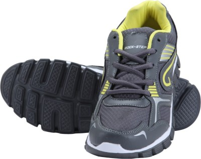 Rockstep Grey Yellow Sports Running Shoes