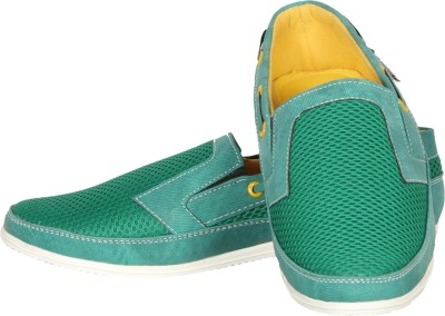 Zezile Green Loafers