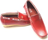 BLK LEATHER Loafers (Red)