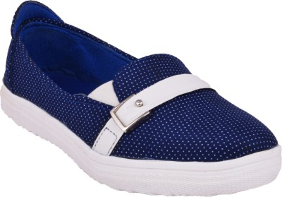 Advin England Blue & White Slip-On Style Sneakers Sneakers