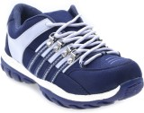Boysons Running Shoes (Blue, White)