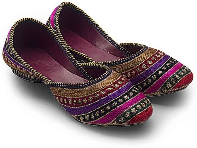 Little India Women Jaipuri Resham Zari Work Ballerina Sandals 307 Jutis