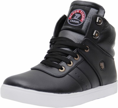 Black Tiger Men's Synthetic Leather Casual Shoes 072-Black-9 Casuals