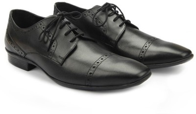 Knotty Derby Classic Brogue Derby Lace Up(Black)