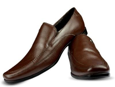 Blue Harpers Smart Brown Slip On Shoes