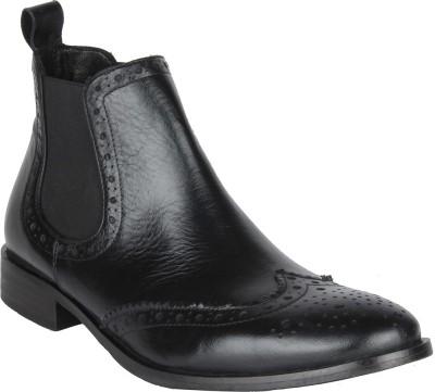Salt N Pepper 14-318 Rafael Black Mid Ankle Boots Casual Shoes