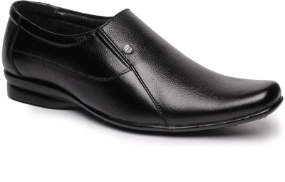 Feather Leather Genuine Leather Black Formal Shoes 030 Slip On Shoes