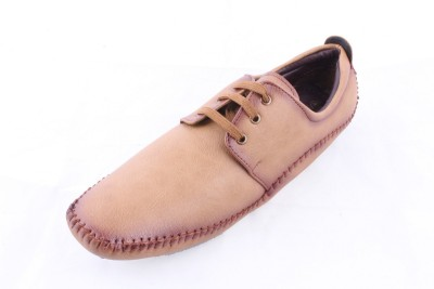Huba BEIGE Synthetic Leather Casual Shoes