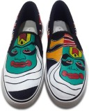 F-Gali The Kathakali Slip-on Shoes Canva...