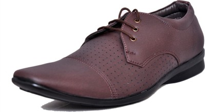 West Code Men's Synthetic Leather Casual Shoes D-71-Brown-6 Casuals