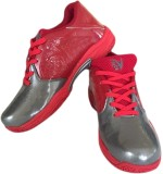 V22 Champ Badminton Shoes (Grey, Red)
