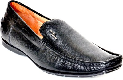 Runbird Classy Black Slip On Shoes