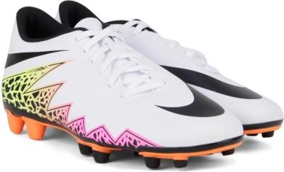 Nike HYPERVENOM PHADE Football Shoes(White, Black, Orange) at flipkart
