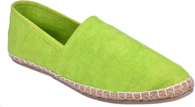 Aartisto Parrot Green Espadrilles Canvas Shoes