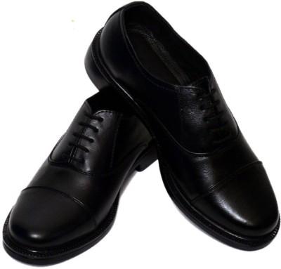 Adler Black Genuine Leather Stylish Oxford Lace Up