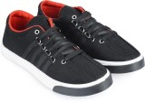 Vonc Black Canvas Shoes (Black)