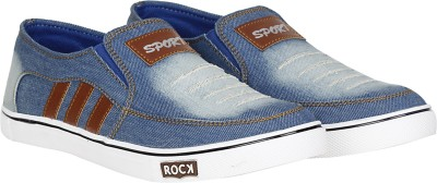 Kraasa 999 Loafers, Sneakers, Canvas Shoes, Party Wear(Blue)