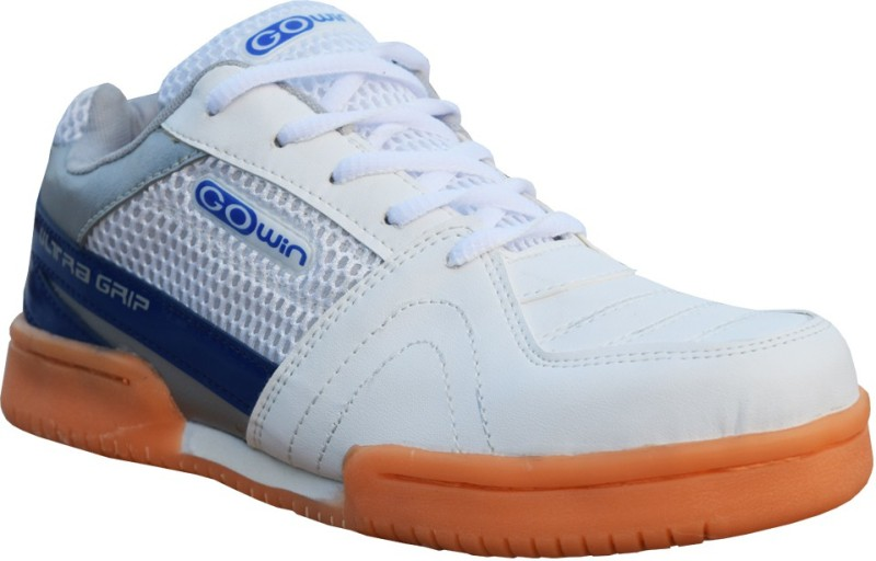 Gowin Ultra Grip Badminton Shoes(White, Blue)