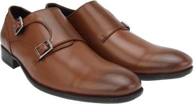 Brigit Business Shoes Brown Monk Strap