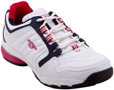 Prozone Men Trendy Durable White Red Sports Running Shoes
