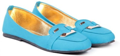 TEN Women Cool-Blue Finished Loafers