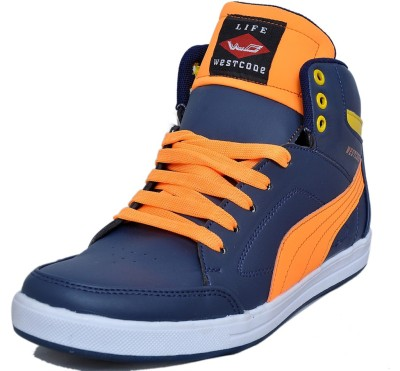 West Code Men's Synthetic Leather Casual Shoes 903-Blue-10 Casuals