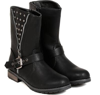 Ten TEN Womens Black Mid Length Boots Boots(Black)