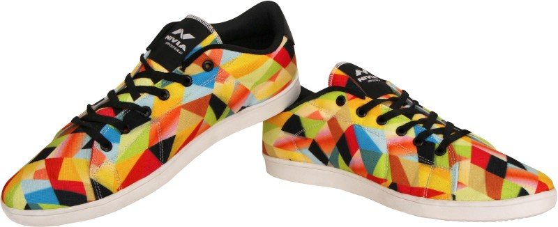 Nivia Finch Canvas Shoes(Yellow,...