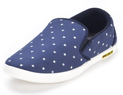 Chevit Navy Star Canvas Shoes