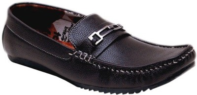 Oora Stylish Brown Loafers