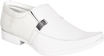 Dox White Monk Strap Shoes