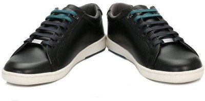 Ted Baker Mens Black Theeyo Leather Trainers Casual Shoes